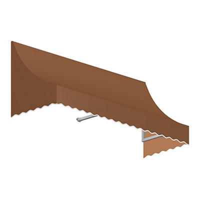 "Awntech Nantucket 4' Crescent Shaped Awning with 24"" Projection - Terr"