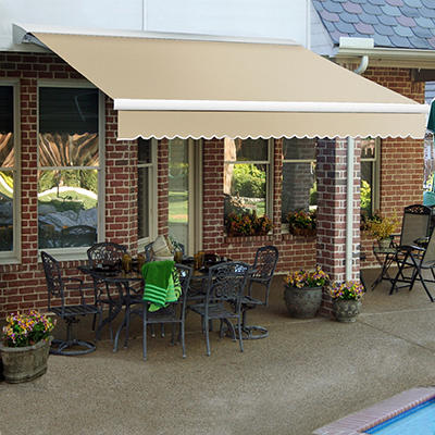"""Awntech DestinLX 12' Right-Facing Retractable Awning with 120"""" Project"""