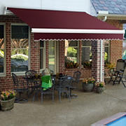"Awntech Maui 10' Manual Retractable Awning with 96"" Projection - Burgundy"