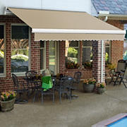 "Awntech Maui 12' Motorized Retractable Awning with 120"" Projection - Linen"