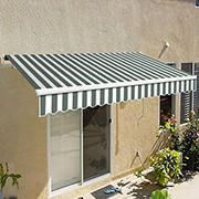 "Awntech California 12' Beauty-Mark Manual Patio Awning with 120"" Projection - Gray"
