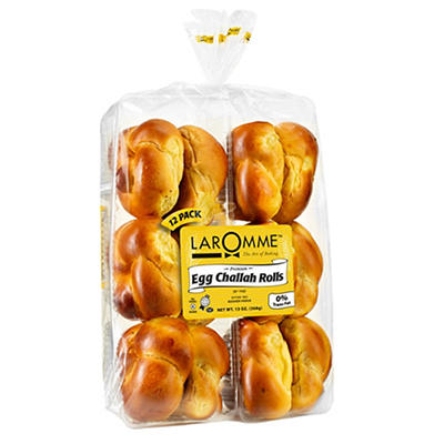 Laromme Premium Egg Challah Rolls, 12 ct./2.16 oz.