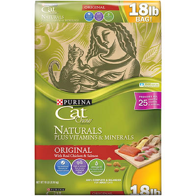 Purina Cat Chow Naturals Original Plus Vitamins and Minerals Cat Food,