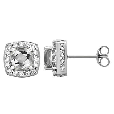 5.25 ct. t.w. White Sappire and Created White Sapphire Accents Halo St
