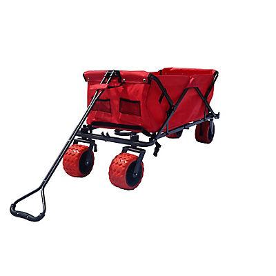 Impact Canopy All Terrain Folding Utility Wagon - Red