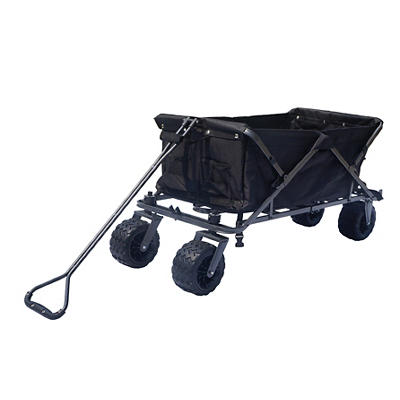 Impact Canopy All Terrain Folding Utility Wagon - Black