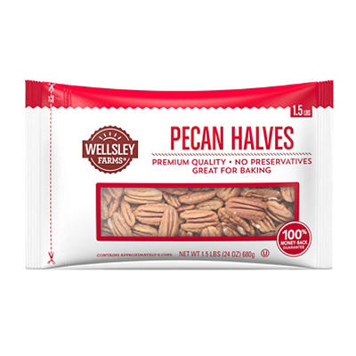 Wellsley Farms Pecan Halves, 24 oz.