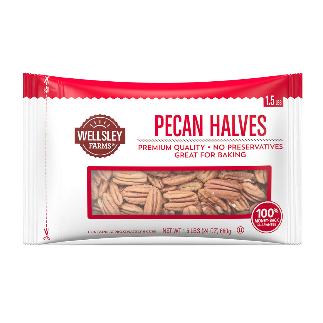 Pecan Halves, 24 oz. - BJs WholeSale Club