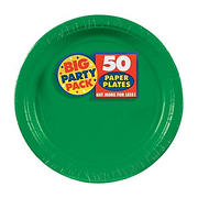 "Amscan 7"" Paper Plates, 300 ct. - Festive Green"