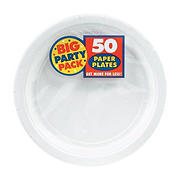"""Amscan 7"""" Paper Plates, 300 ct. - Frosty White"""