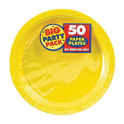 "Amscan 7"" Paper Plates, 300 ct. - Sunshine Yellow"