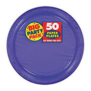 "Amscan 7"" Paper Plates, 300 ct. - New Purple"