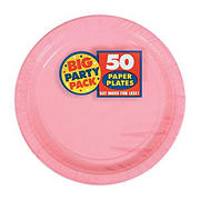 """Amscan 7"""" Paper Plates, 300 ct. - New Pink"""