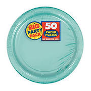 "Amscan 7"" Paper Plates, 300 ct. - Robins Egg Blue"