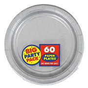 """Amscan 7"""" Paper Plates, 300 ct. - Silver"""
