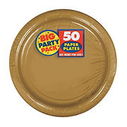 """Amscan 7"""" Paper Plates, 300 ct. - Gold"""