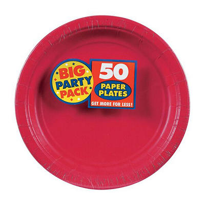 "Amscan 7"" Paper Plates, 300 ct. - Apple Red"