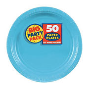 "Amscan 7"" Paper Plates, 300 ct. - Caribbean Blue"