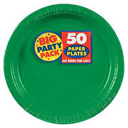 "Amscan 9"" Paper Plates, 250 ct. - Festive Green"