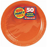 "Amscan 9"" Paper Plates, 250 ct. - Orange Peel"