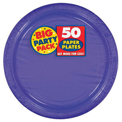 "Amscan 9"" Paper Plates, 250 ct. - New Purple"