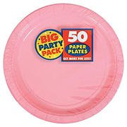 """Amscan 9"""" Paper Plates, 250 ct. - New Pink"""