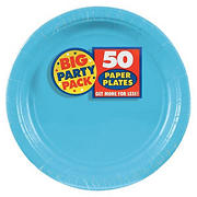 "Amscan 9"" Paper Plates, 250 ct. - Caribbean Blue"