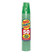 Amscan 16-Oz. Plastic Cold Cups, 250 ct. - Green