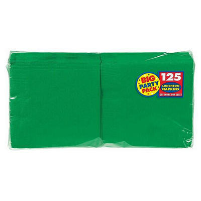 "Amscan 6.5"" 2-Ply Lunch Napkins, 500 ct. - Green"