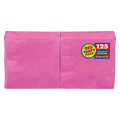 "Amscan 6.5"" 2-Ply Lunch Napkins, 500 ct. - Bright Pink"