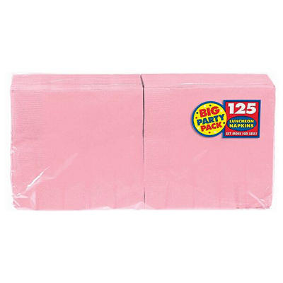 "Amscan 6.5"" 2-Ply Lunch Napkins, 500 ct. - New Pink"
