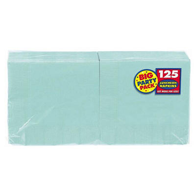 "Amscan 6.5"" 2-Ply Lunch Napkins, 500 ct. - Robins Egg Blue"
