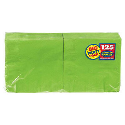 "Amscan 6.5"" 2-Ply Lunch Napkins, 500 ct. - Kiwi"