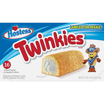Hostess Twinkies Individually Wrapped Cakes, 16 ct.