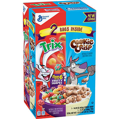 General Mills Trix and Cookie Crisp Cereal Combo Pack, 2 pk./14 oz.