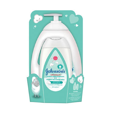 Johnson's Cotton Touch Baby Wash & Shampoo, 33.8 oz. and Body Lotion,