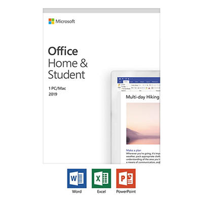 Microsoft Office Home and Student 2019, 1 Device, Windows 10 PC/Mac Ke