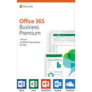 Microsoft Office 365 Business Premium, 12-Month Subscription, 1 Person, PC/Mac Key Card