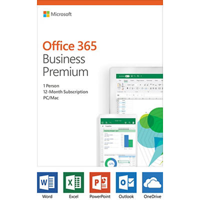 Microsoft Office 365 Business Premium, 12-Month Subscription, 1 Person
