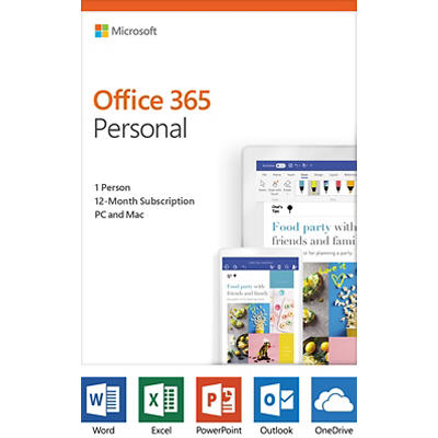 Microsoft Office 365 Personal, 12-Month Subscription, 1 Person, PC/Mac
