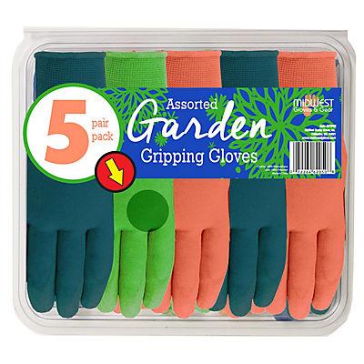 Midwest Gloves & Gear Ladies' Garden Gripping Gloves, 5 pk.
