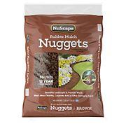 NuScape Rubber Mulch Nuggets, 1.25 Cu. Ft. - Brown