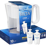 Brita Large 10 Cup Wave BPA Free Water Pitcher with 2 Filters - Assorted Colors