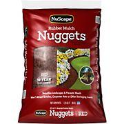 NuScape Rubber Mulch Nuggets, 1.25 Cu. Ft. - Red