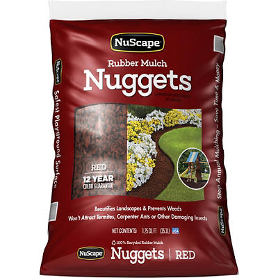 NuScape Rubber Mulch Nuggets, 1.25 Cu. Ft. - Red