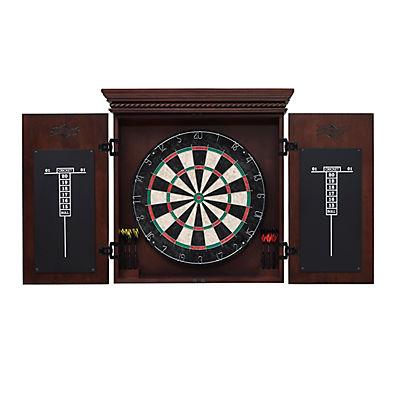 American Heritage Billiards Cavalier Dart Board Cabinet Set