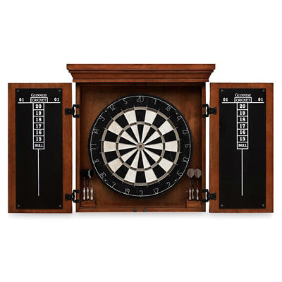 American Heritage Billiards Guinness Dart Board Cabinet Set