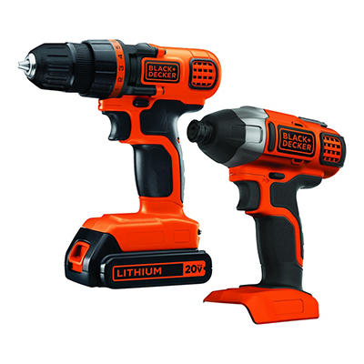 Black & Decker Drill and Impact Driver Set