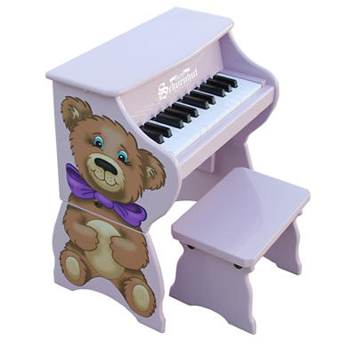 Schoenhut 25-Key Animal Piano - Lavender Teddy Bear