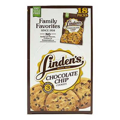 Linden's Chocolate Chip Cookies, 3 ct./18 pk.